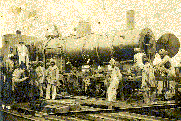 India Steam Train Construction